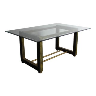REDUCED Bernhard Rohne for Mastercraft Acid-Etched Brass Table For Sale