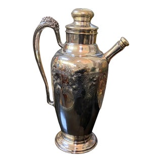 Early 20th Century Silver Plate Cocktail Shaker For Sale