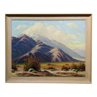 Paul Grimm - Stunning California Desert Landscape - Oil Painting For Sale