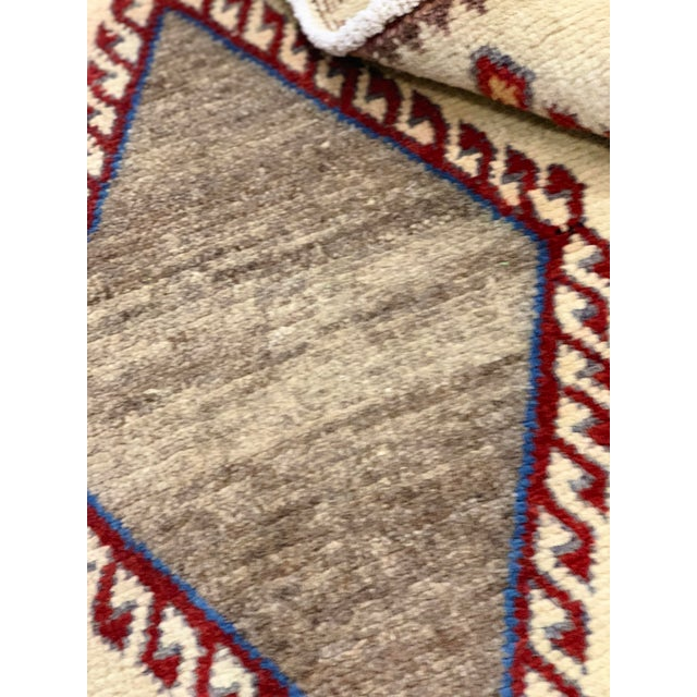 1960s Vintage Persian Gabbeh Rug - 4′2″ × 6′4″ For Sale - Image 12 of 13