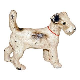 Hubley Fox Terrier Cast Iron Doorstop For Sale
