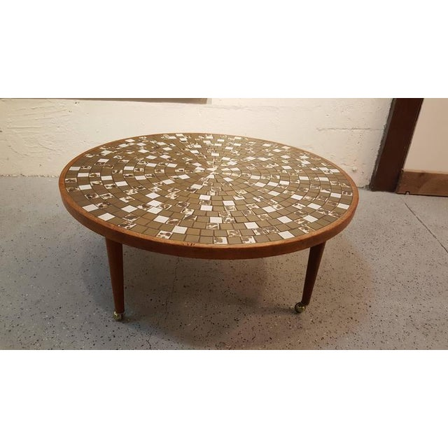 Martz Mosaic Tile Coffee Table For Sale In San Francisco - Image 6 of 7