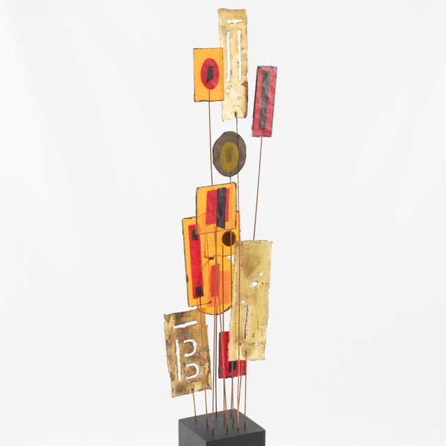 Brass C. Jeré Artisan House Resin and Brass Tabletop Sculpture, Circa 1966 For Sale - Image 7 of 13