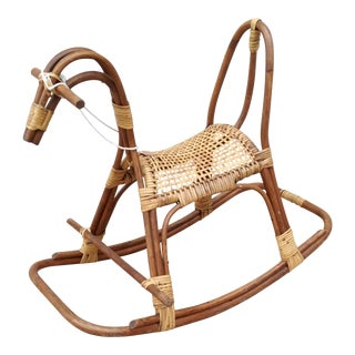 1960s Mid-Century Modern Swedish Rocking Horse For Sale