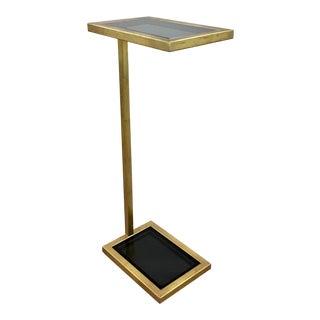 Regina Andrew Modern Gold Leaf Finished Metal Liam Drinks Table For Sale