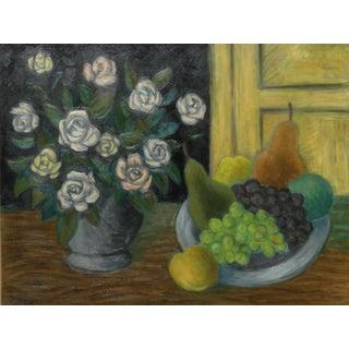 Laurent Marcel Salinas, Corbielle De Fruits (404), Oil on Canvas For Sale
