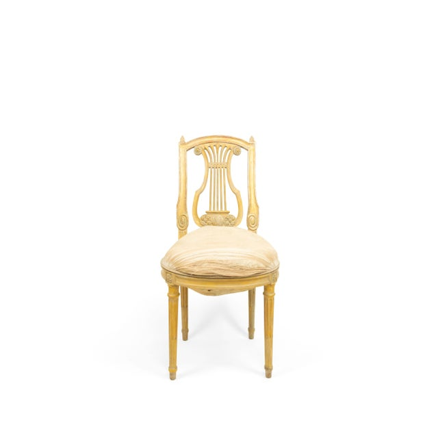 French French Louis XVI Lyre Side Chairs For Sale - Image 3 of 11