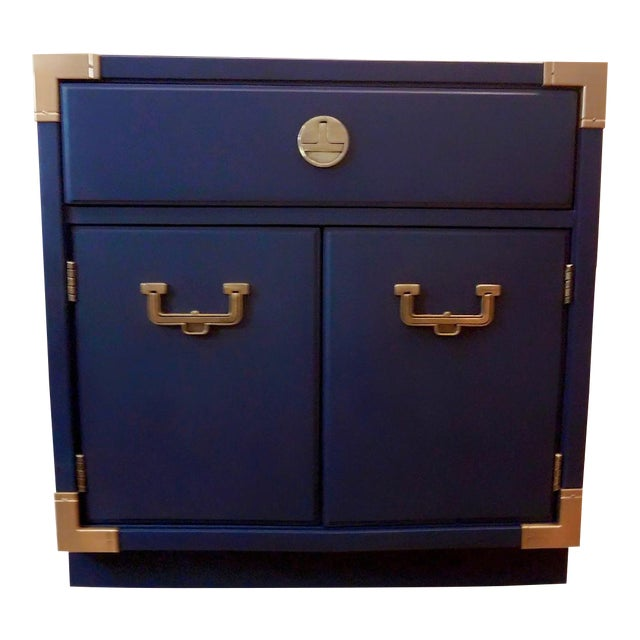 Thomasville Blue Campaign Nightstand For Sale
