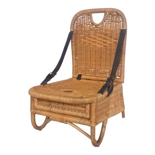 Picnic Chair, Beige, Rattan For Sale