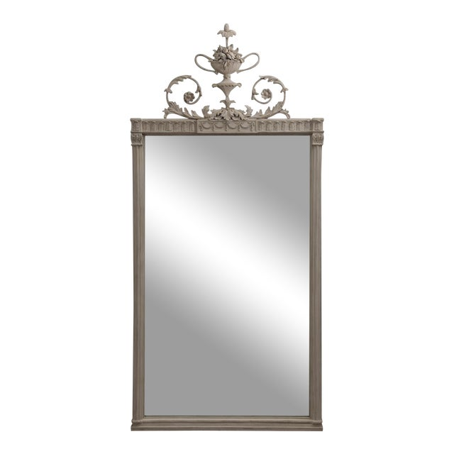 Antique English Neoclassical Scroll Motif Mirror For Sale - Image 10 of 10