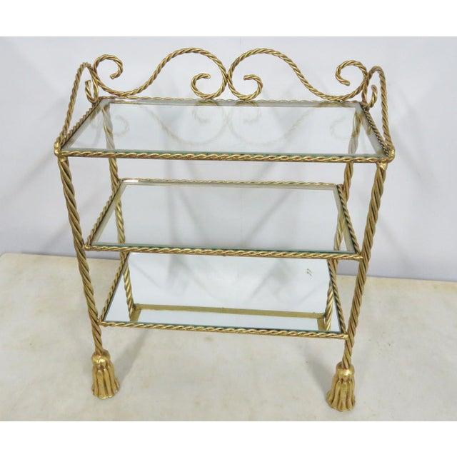 Hollywood Regency Hollywood Regency Gold Gilt Tassel Shelf For Sale - Image 3 of 4