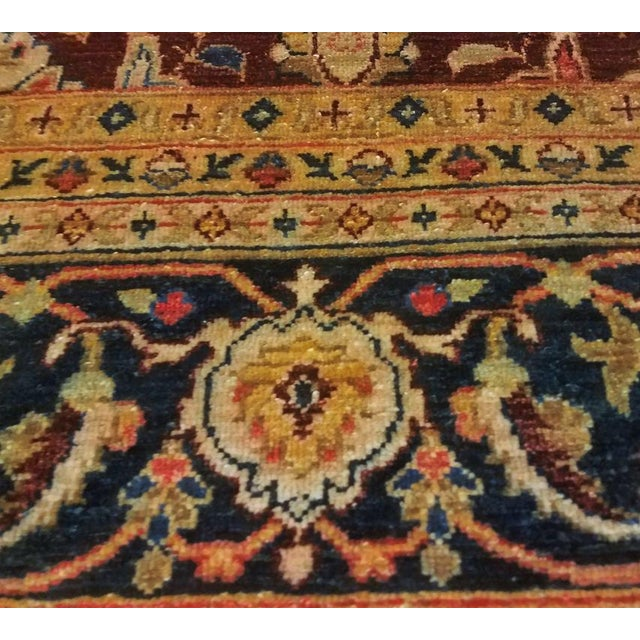 Kafkaz Peshawar Red & Blue Wool Rug - 9'0 X 12'2 For Sale - Image 4 of 7