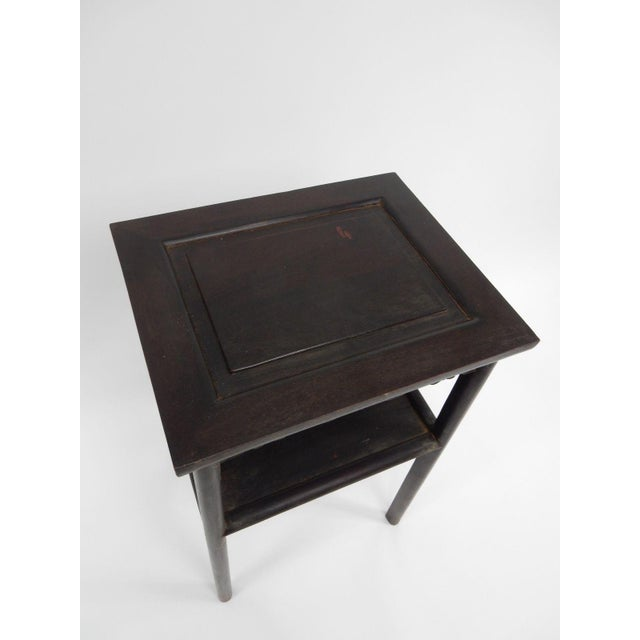 Asian Antique Chinese Zitan Two-Tier Wood Side Table For Sale - Image 3 of 11