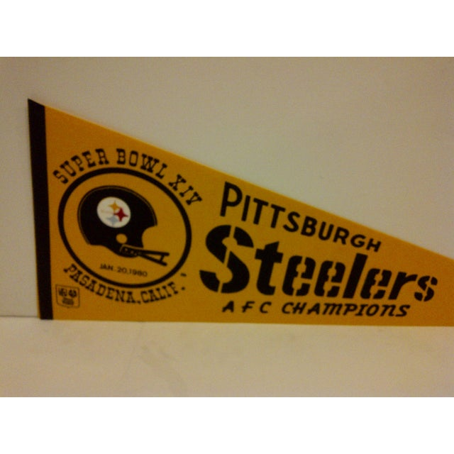 Contemporary Vintage NFL Pittsburgh Steelers Pennant Flag For Sale - Image 3 of 5