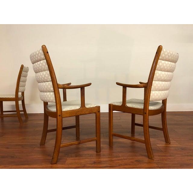 Brown Johannes Andersen for Uldum Vintage Teak Dining Chairs - Set of 6 For Sale - Image 8 of 12