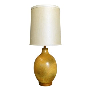 Nicely Glazed Large Warm Tone Table Lamp For Sale