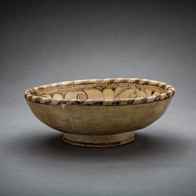 Asian Monochrome Terracotta Bowl For Sale - Image 3 of 3