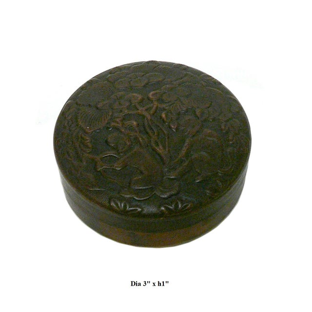 Chinese Metal Bronze Trinket Box For Sale - Image 5 of 5