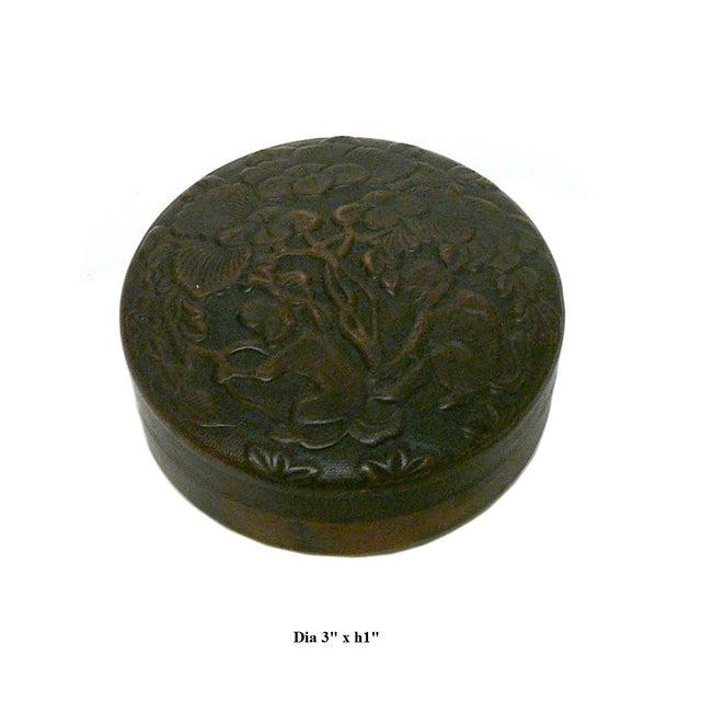Chinese Metal Bronze Trinket Box - Image 5 of 5