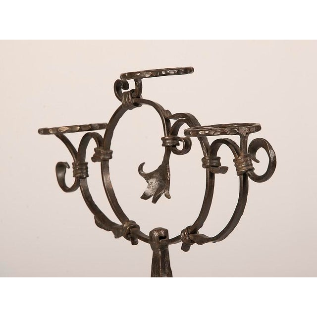 Antique French Hand-Forged Iron Plant Stand circa 1870 - Image 6 of 9