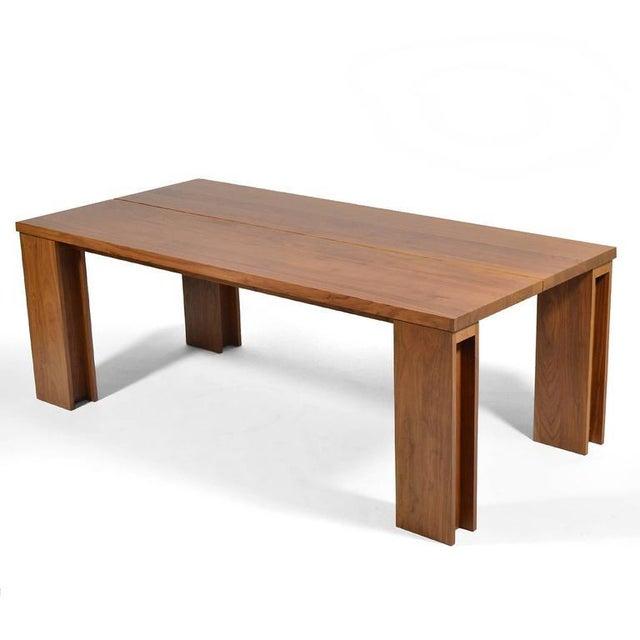 """De La Espada """"Long"""" Table in Black Walnut For Sale - Image 5 of 11"""