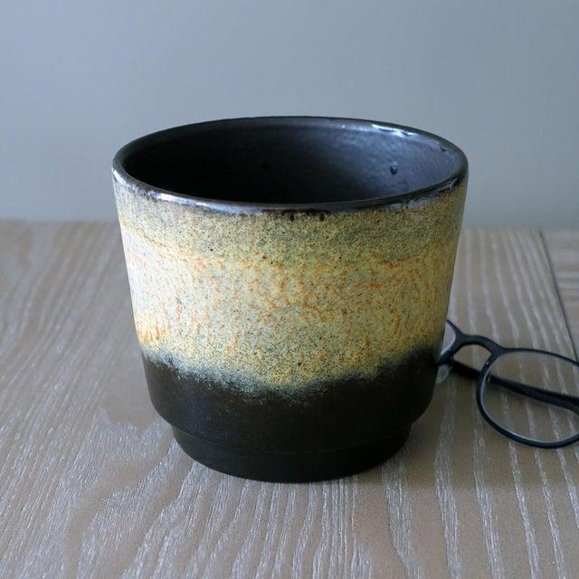 Cottage 1970s Vintage West German Fat Lava Glazed Ceramic Pottery Planter For Sale - Image 3 of 6