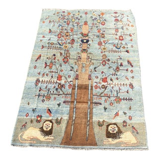 "Soft Persian Gabbeh Hand Knotted Wool Rug - 6'8""x9'9"""