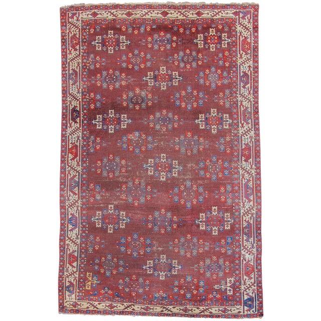 Yomut Main Carpet - 6′ × 9′4″ For Sale