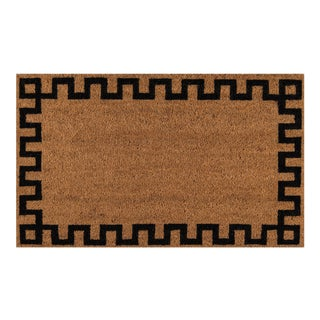Erin Gates by Momeni Park Greek Key Natural Hand Woven Natural Coir Doormat - 1′6″ × 2′6″
