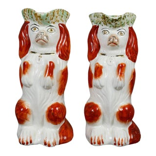 Pair of Staffordshire Spaniel Form Toby Jugs For Sale