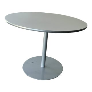 Contemporary Steelcase Coalesse Round Dining or Cafe Table For Sale