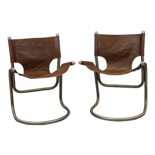 Italian Mid-Century Cantilever Chairs - a Pair For Sale