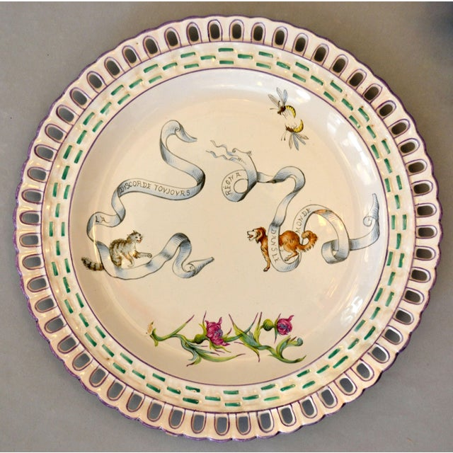 Emile Galle Art Nouveau French Faience Enamel Decorated Emile Galle Nancy Plates, Signed - Set of 6 For Sale - Image 4 of 13