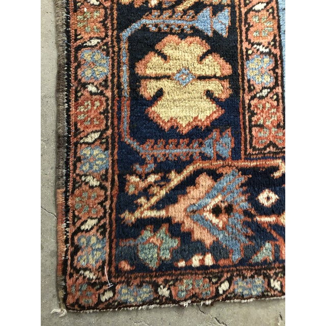 Colorful Vintage Persian Heriz Rug For Sale - Image 4 of 7