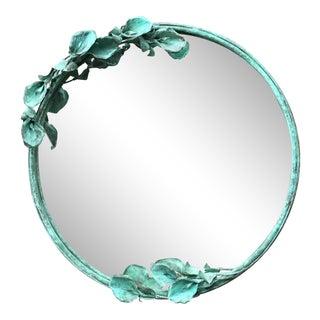 Handmade Copper Round Mirror For Sale
