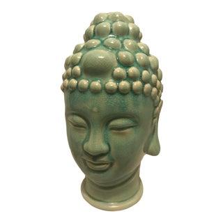 Mid- Century Modern Turquoise Buddha Head Sculpture