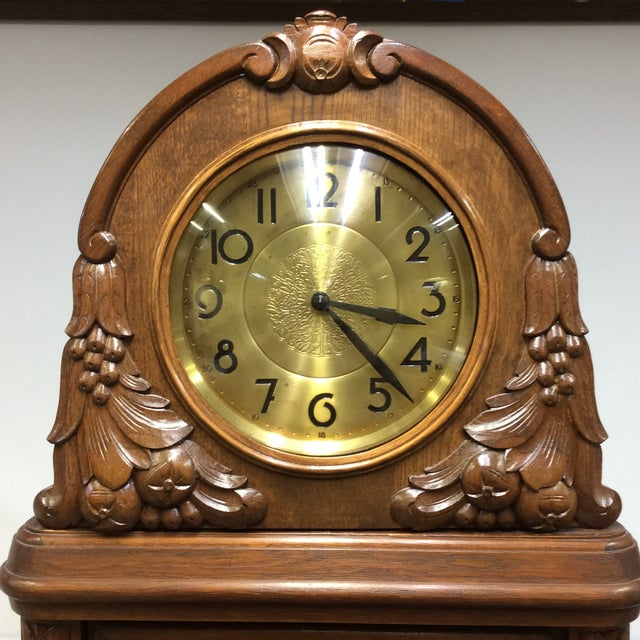 Art Deco Antique Early 20th Century A. Kieninger German Grandfather Clock For Sale - Image 3 of 13