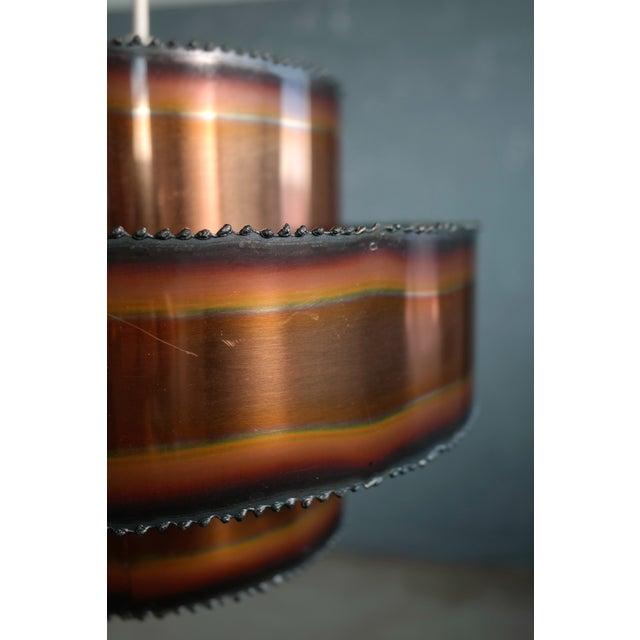 Svend Aage Holm Sorensen Brutalist Style Patinated Copper Pendant by Svend Aage Holm Sørensen, Denmark For Sale - Image 4 of 5