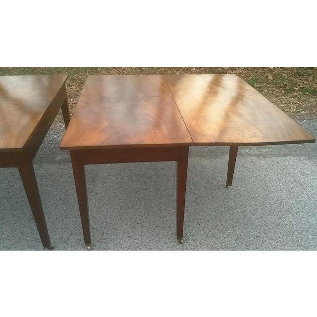 Federal Mahogany Hepplewhite Banquet Dining Table For Sale - Image 10 of 11