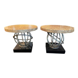 Whimsical 1960s Hollywood Regency Hostess Tables - a Pair For Sale