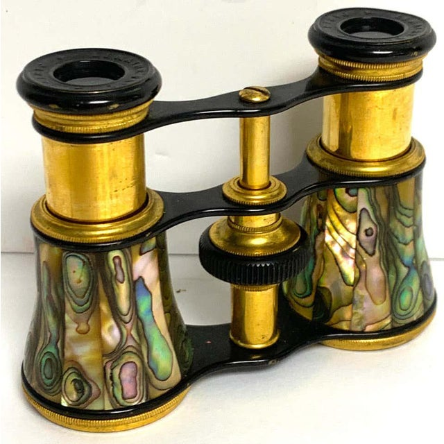 Napoleon III Abalone and Gilt Bronze Opera Glasses For Sale In West Palm - Image 6 of 7
