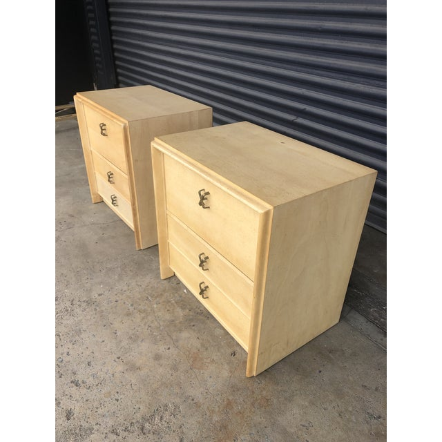 Mid 20th Century Mid Century Paul Frankl X Pull Nightstands- a Pair For Sale - Image 5 of 11