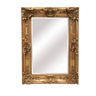 Mayfair Vintage Antique Gold Wall Mirror For Sale