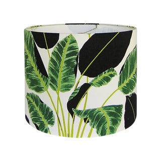 Tropical Leaf Drum Lamp Shade