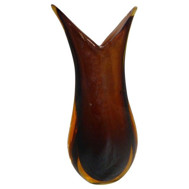 Mid-Century Murano Glass Vase For Sale