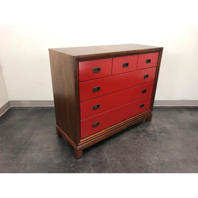 Campaign Campaign Style Bachelor Chest by Stanley For Sale - Image 3 of 12