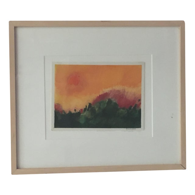 Modernist Abstract Landscape by Hamilton For Sale