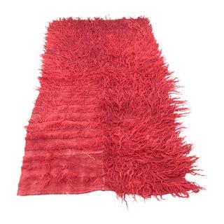 Vintage Red Tone Handmade Turkish Mohair Filikli Rug For Sale