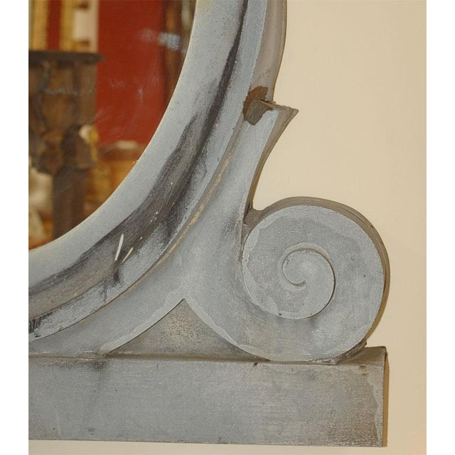 This fantastically alive and flowing French zinc window frame with great, unique color was later made into a mirror. This...