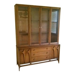Mid Century Modern Brasilia 2 Piece Cabinet For Sale